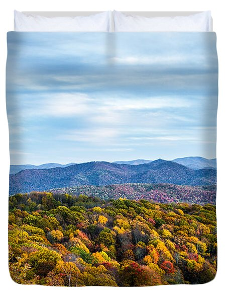 Max Patch Bald Duvet Cover by John Haldane
