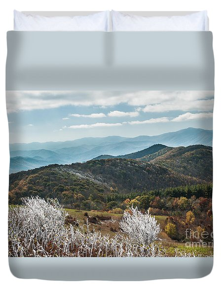 Duvet Cover featuring the photograph Max Patch In Appalachian Mountains by Debbie Green