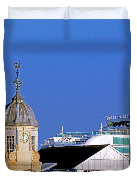Maxims Casino Town Quay And Ventura Duvet Cover by Terri Waters