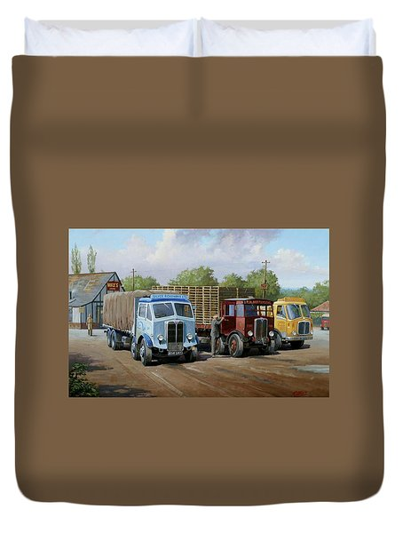 Max's Transport Cafe Duvet Cover