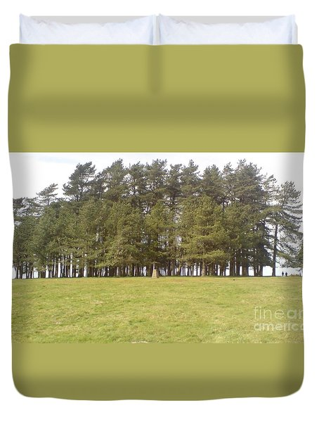 Duvet Cover featuring the photograph May Hill Tree Tops by John Williams