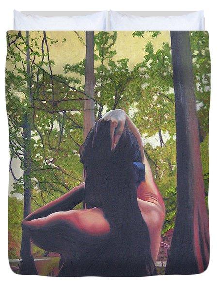 May Morning Arkansas River 5 Duvet Cover by Thu Nguyen