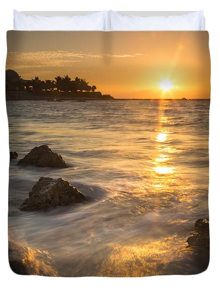 Mayan Coastal Sunrise Duvet Cover