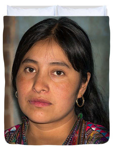 Mayan Girl Duvet Cover