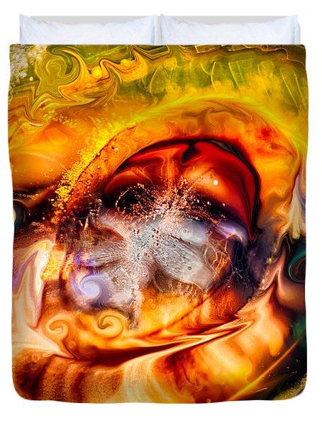 Mayan God Duvet Cover by Omaste Witkowski