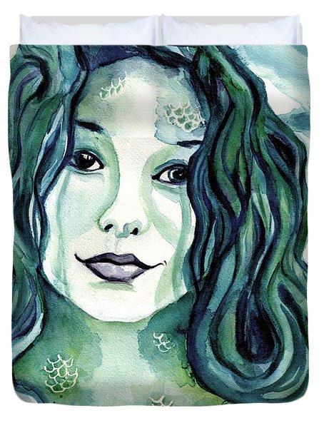 Maybe I'm A Mermaid Duvet Cover