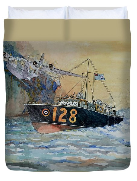 Mayday Mayday Duvet Cover by Ray Agius