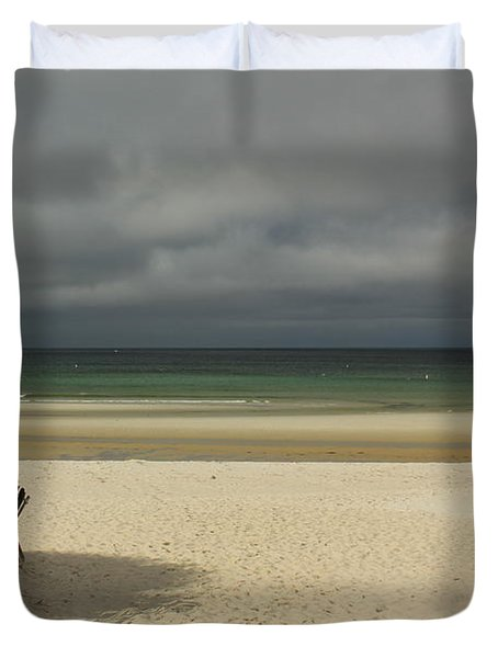 Mayflower Beach Storm Duvet Cover