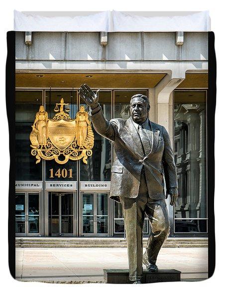 Mayor Frank L. Rizzo Monument Duvet Cover