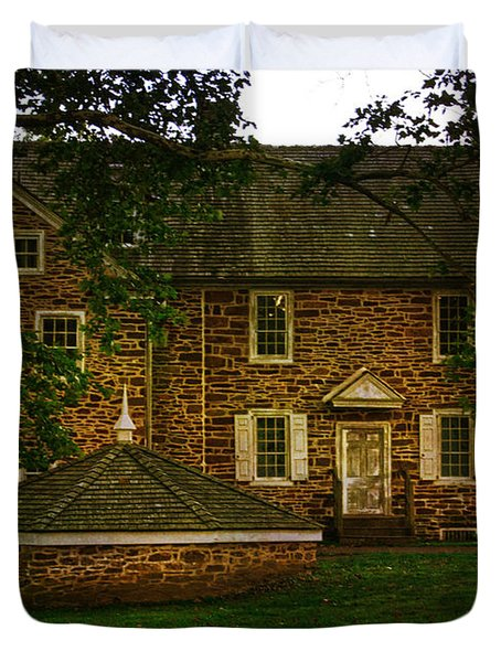 Duvet Cover featuring the photograph Mcconkey's Ferry Inn by Debra Fedchin