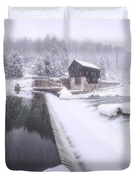Mcconnell's Mill Winter  Duvet Cover