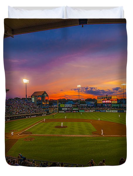 Mccoy Stadium Sunset Duvet Cover