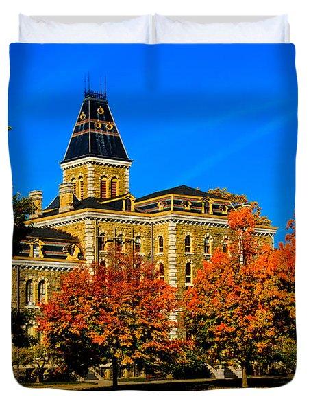 Mcgraw Hall Cornell University Duvet Cover