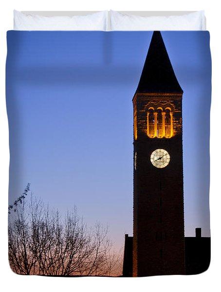 Mcgraw Tower Cornell University Duvet Cover