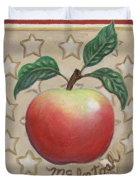 Mcintosh Apple Two Duvet Cover by Linda Mears
