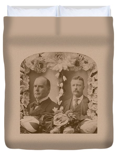 Mckinley And Roosevelt Duvet Cover by War Is Hell Store