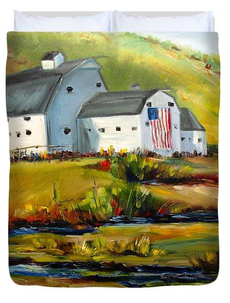 Mcpolin Park City Utah Barn Duvet Cover