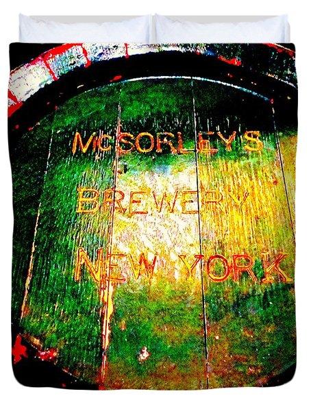 Mcsorleys Brewery Duvet Cover by Ed Weidman