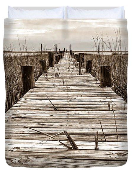 Mcteer Dock - Sepia Duvet Cover