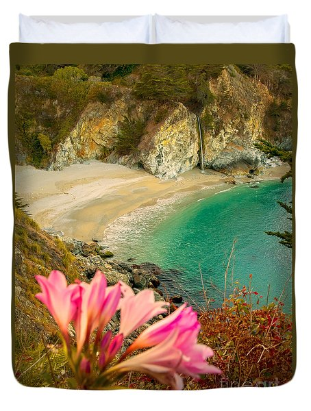 Mcway Falls-3am Adventure Duvet Cover by David Millenheft
