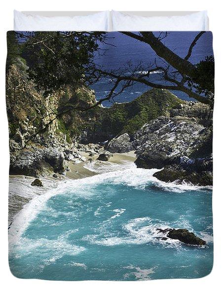 Mcway Falls - Big Sur Duvet Cover