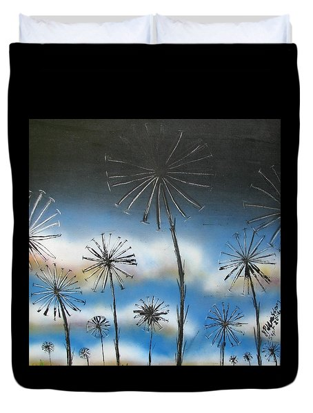 Meadow At Dawn Duvet Cover