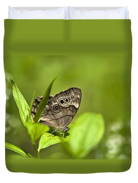 Duvet Cover featuring the photograph Meadow Butterfly by Christina Rollo