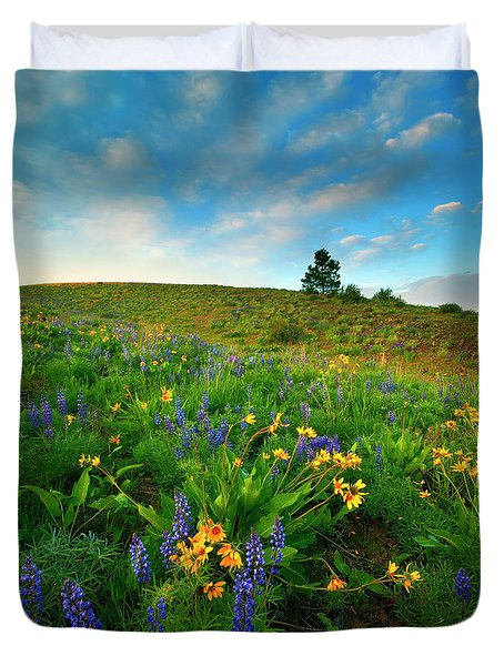 Meadow Gold Duvet Cover by Mike  Dawson