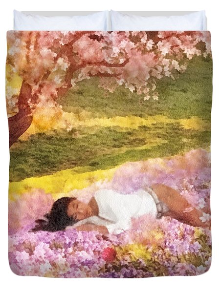 Meadows Of Heaven Duvet Cover by Mo T