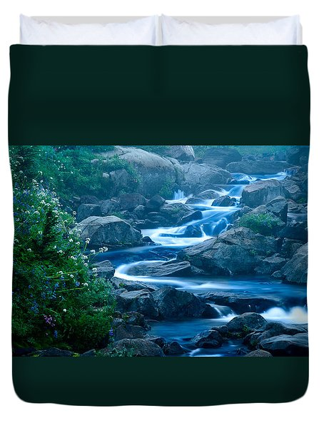 Meandering Stream Duvet Cover by Chris McKenna