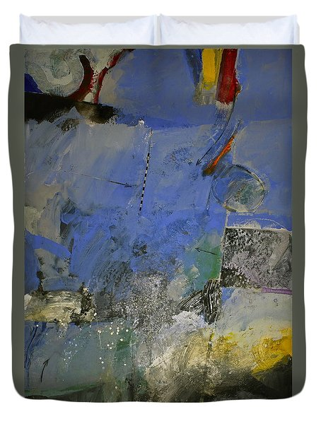 Duvet Cover featuring the painting Meatier Illogical Cold Front by Cliff Spohn