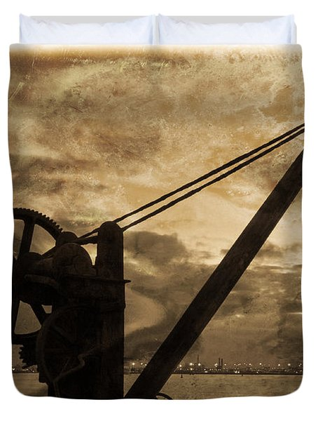 Mechanics Of The Old Days Duvet Cover by Semmick Photo