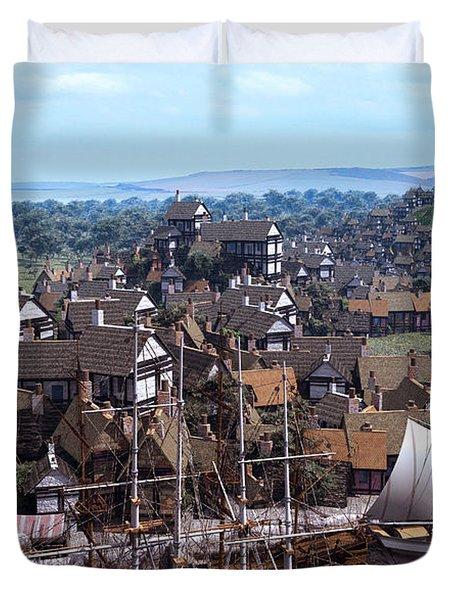 Med Village Duvet Cover by Dominic Davison