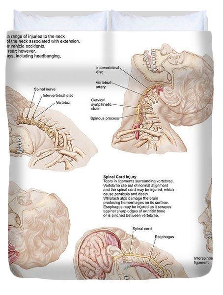 Medical Chart Showing The Range Duvet Cover