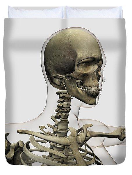 Medical Illustration Of A Womans Skull Duvet Cover by Stocktrek Images