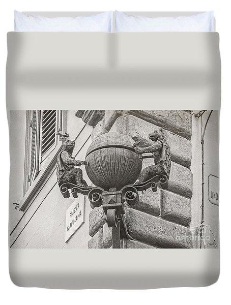 Medieval Alarm Duvet Cover