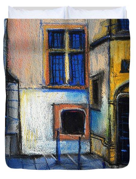 Medieval Architecture In Vieux Lyon France Duvet Cover