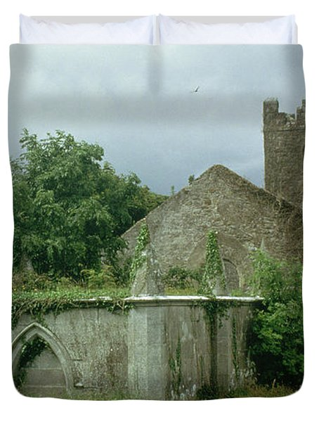 Medieval Church And Churchyard Duvet Cover by Unknown
