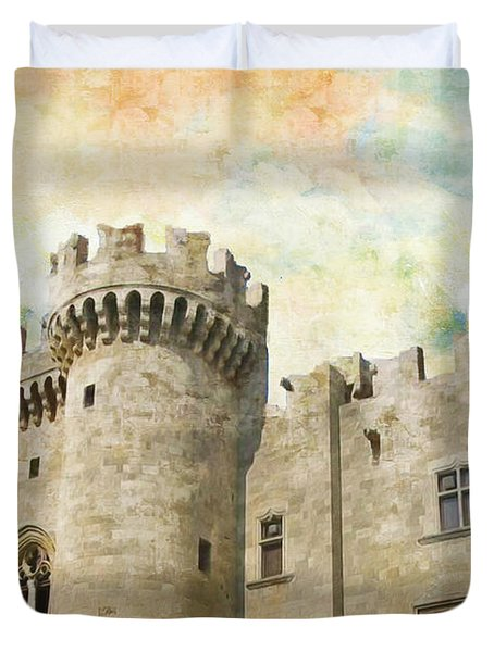 Medieval City Of Rhodes Duvet Cover by Catf