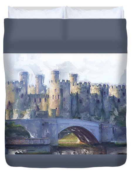 Medieval Conwy Castle.  Duvet Cover