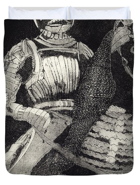 Medieval Knight On Horseback - Chevalier - Caballero - Cavaleiro - Fidalgo - Riddare -ridder -ritter Duvet Cover