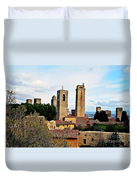 Medieval Rooftops Duvet Cover