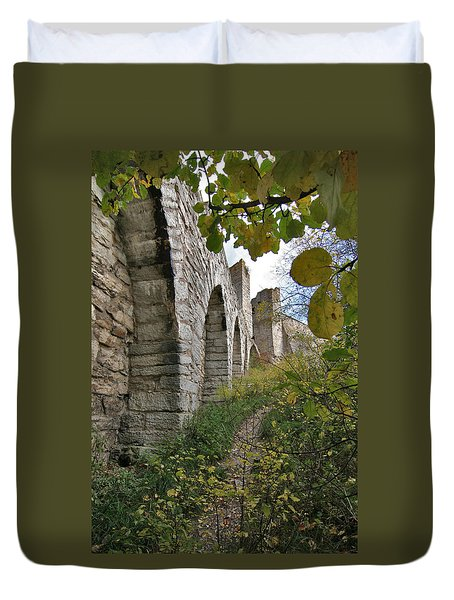 Medieval Town Wall Duvet Cover