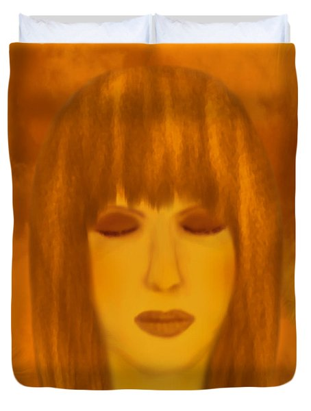 Meditating - Spiritual Painting By Giada Rossi  Duvet Cover