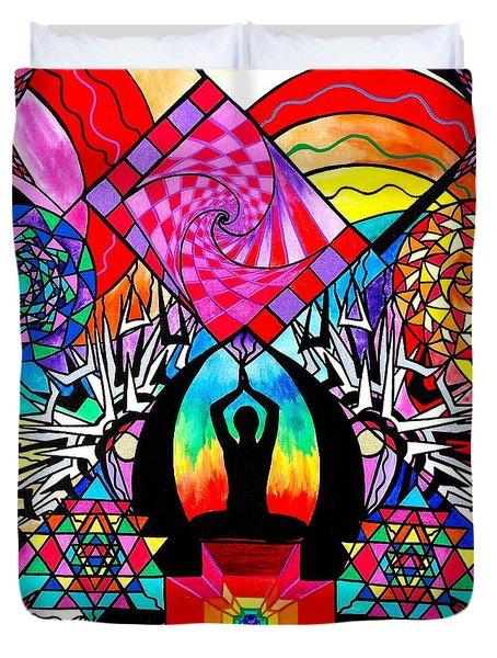 Meditation Aid Duvet Cover