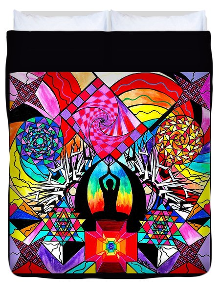 Meditation Aid Duvet Cover