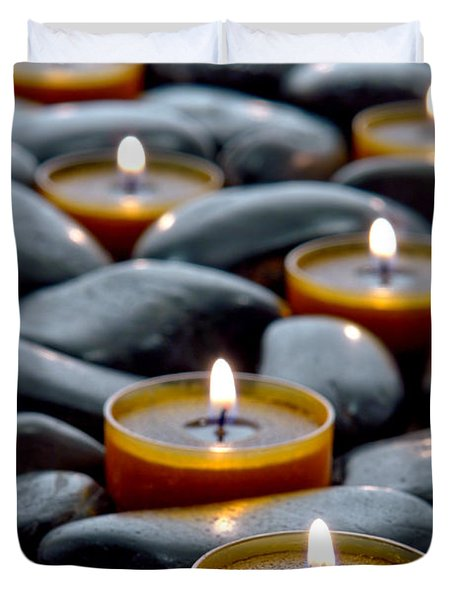Meditation Candles Duvet Cover