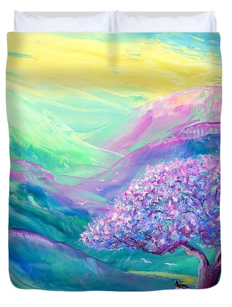 Meditation In Mauve Duvet Cover