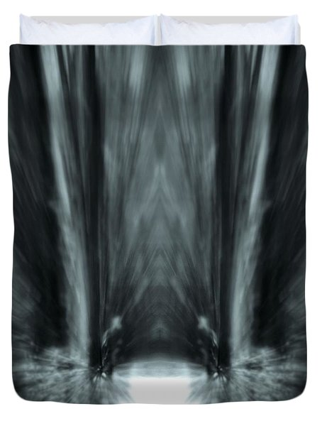 Meditation In The Forest Duvet Cover by Dan Sproul