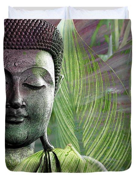 Meditation Vegetation Duvet Cover